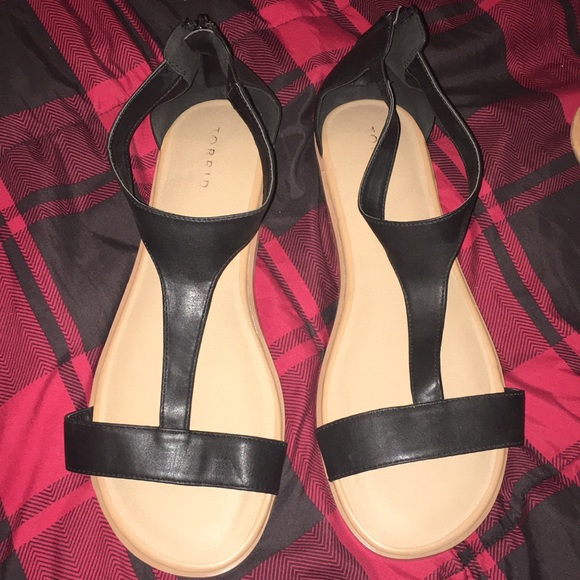 torrid Shoes | Black Sandals Size 12